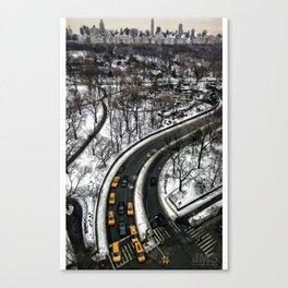 Central Park Taxis Canvas Print