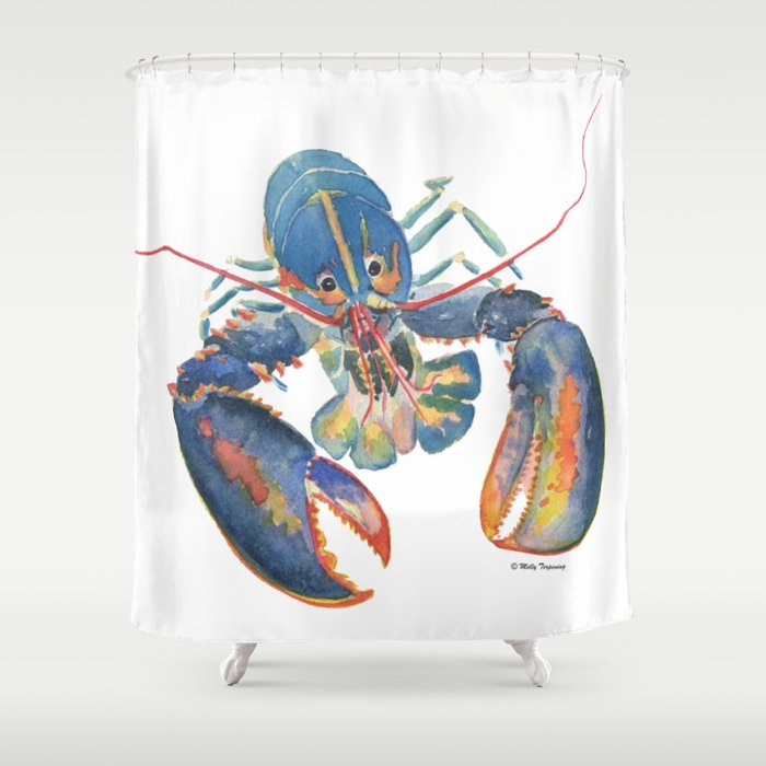 Sea Lobster Shower Curtain By Mellyterpening