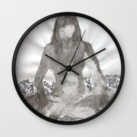 meditation Wall Clocks featuring Meditation by Condor