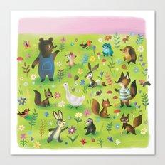 Sunny Garden Canvas Print