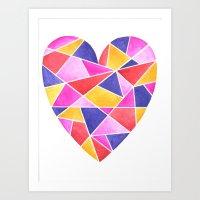 Bright Heart 39 Art Print