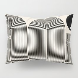 Abstraction_LINE_BLACK_DOT_VISUAL_ART_Minimlism_001A Pillow Sham