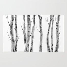 Birch Trees | Indian Ink Illustration | Canadian Art Rug
