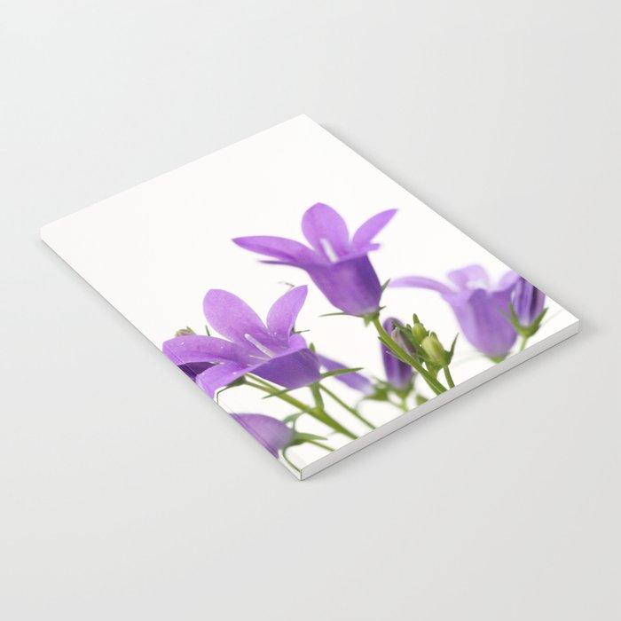 PURPLE FLOWERS - Bellflowers #2 #decor #art #society6 Notebook