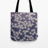 starry night Tote Bags featuring Starry Starry Night (1) by Karin Elizabeth