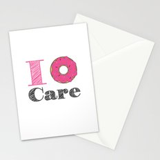 i don't care Stationery Cards