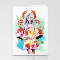 cancer Stationery Cards featuring Cancer by Sara Eshak