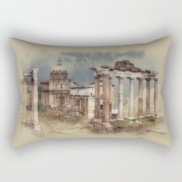 Roman Forum Rectangular Pillow