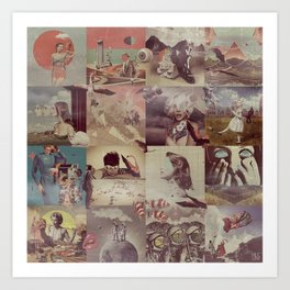 Collage Collage Art Print