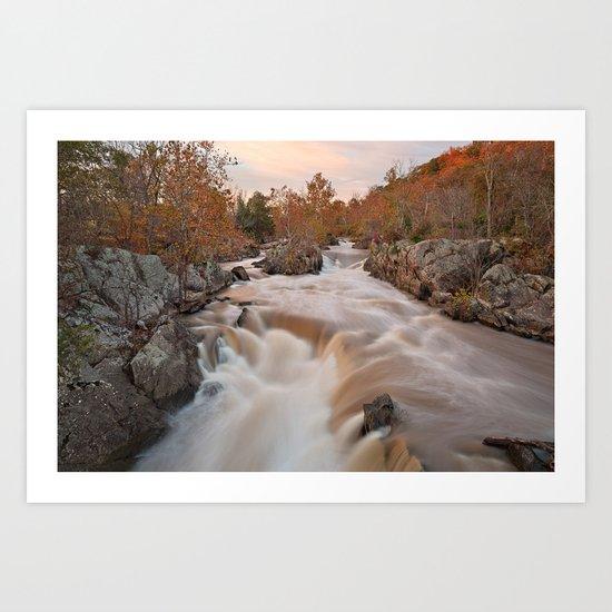 Great Autumn Falls Art Print