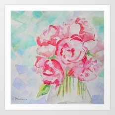 Fluers Fraiches Flower  Art Print