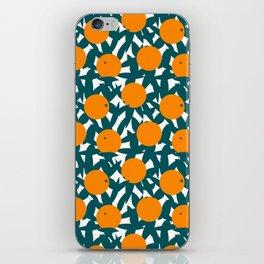Art Deco Minimalist Orange Grove iPhone Skin