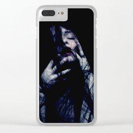 Tendrils - Emotive Self Portrait - long hair woman sensual Clear iPhone Case