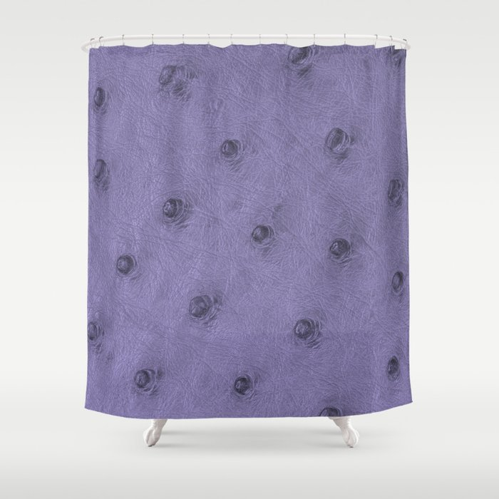 Ostrich Leather Effect Purple Shower Curtain
