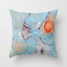 The Lady Of Two Lands Throw Pillow