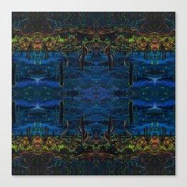 Cactus Dream Reflection Canvas Print