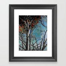 Land of the Silver Birch Framed Art Print