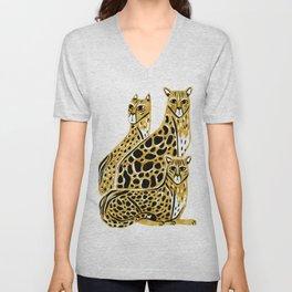 Gold Cheetahs Unisex V-Neck