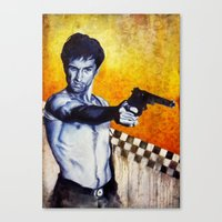 taxi driver Canvas Prints featuring Taxi Driver by The Notorious Gasoline Company