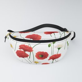 Poppies and daisies Fanny Pack
