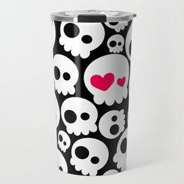 A skull in love Travel Mug
