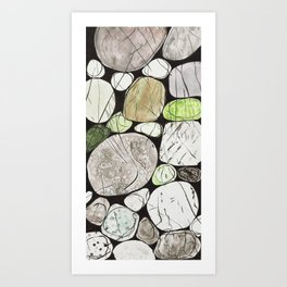 Classical Stones Pattern in High Format Art Print