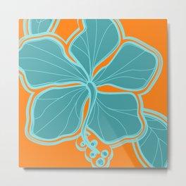Kailua Hibiscus Hawaiian Engineered Floral Metal Print