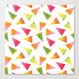 Beautiful Colorful Triangles Canvas Print