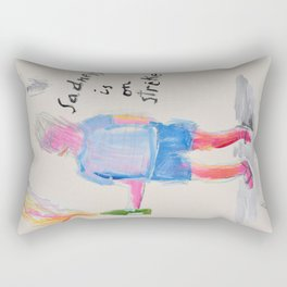 Sadness is on strike Rectangular Pillow