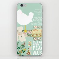 woodstock iPhone & iPod Skins featuring Woodstock Birdie Collage Print by Claudia Schoen