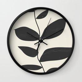 minimal plant Wall Clock