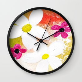 Floral Dreams Wall Clock
