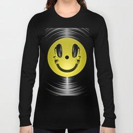 Vinyl headphone smiley Long Sleeve T-shirt
