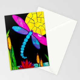 Find Your Way - paper pieced dragonfly Stationery Cards