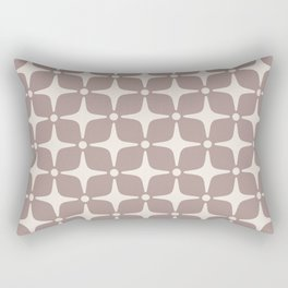 Mid Century Modern Star Pattern Beige 2 Rectangular Pillow