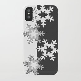 Black and white Christmas pattern iPhone Case