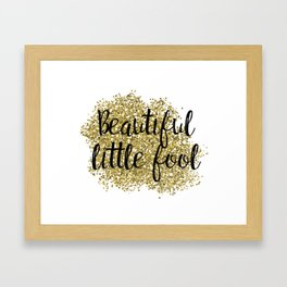 Beautiful little fool - golden jazz Framed Art Print