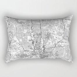 Columbus White Map Rectangular Pillow