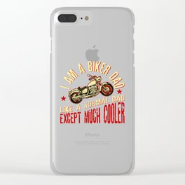 I Am A Motocross Dad Like A Normal Dad Except Much Cooler Clear iPhone Case
