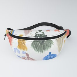 Macrame Feathers + Rainbows Fanny Pack