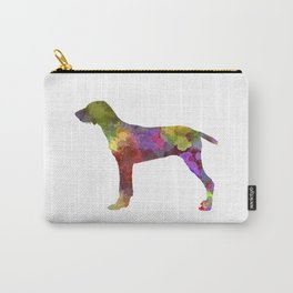 Wirehaired Slovakian Pointer in watercolor Carry-All Pouch