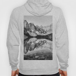 Moraine Lake Reflection Black and White Hoody