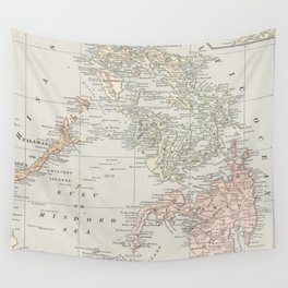 Vintage Map of The Philippine Islands (1901) Wall Tapestry