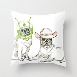 Cowboys & Aliens Throw Pillow