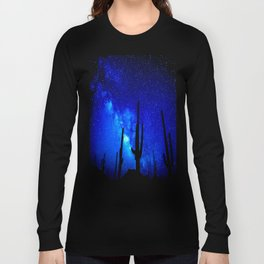 The Milky Way Blue Long Sleeve T-shirt