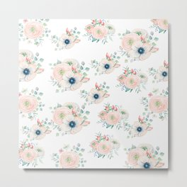 Dog Rose Pattern 2 Metal Print