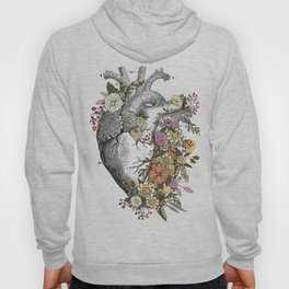 Heart With Flowers Hoody