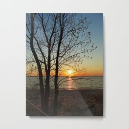 Sunset at Pere Marquette Beach Metal Print