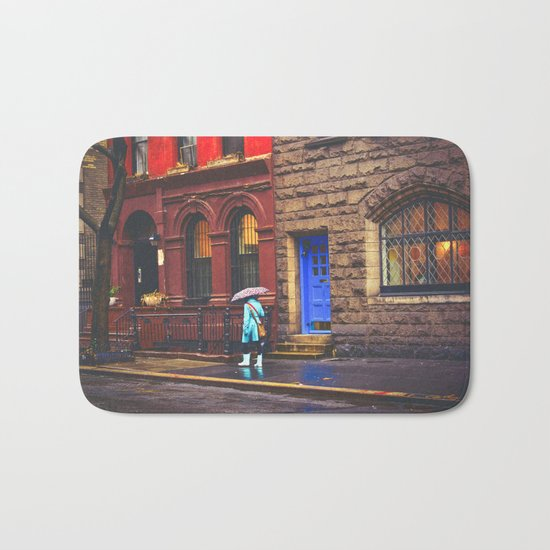 New York City Rainy Afternoon Bath Mat
