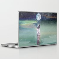 Laptop Skins featuring Moon Balloon by Vin Zzep